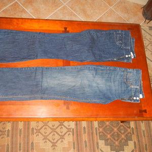 2 Pair Levi's 526 Slender Boot Cut Jeans Dark Reg